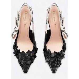 RARE Christian Dior J'Adior flower Slingback Sz 39